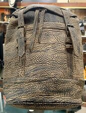 Genuine Bison Leather Backpack with Buckle Strap Closure (Sold Separately)