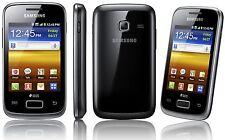 Samsung Galaxy Y Duos BLACK GT-S6102 Smartphone Dual Sim Sbloccato UK 3 G