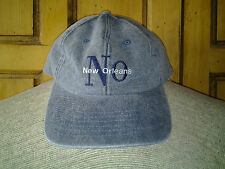 New with Tags New Orleans Denim Blue Jean Baseball Cap Hat Adjustable