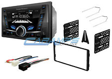 NEW POWER ACOUSTIK BLUETOOTH CAR STEREO RADIO AUXUSB INPUT NO CD PLYR W DASH KIT