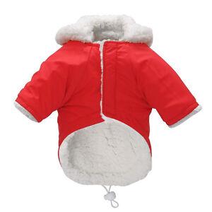 Waterproof Pet Winter Clothes Warm Dog Fleece Hoodie Coat Puppy Jacket Pink Coat