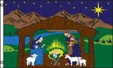 Nativity Scene Polyester 3x5 Foot Flag Religious Christmas Outdoor Banner Garden