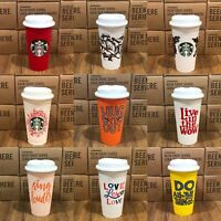 Starbucks Reusable Plastic Grande Coffee/ Tea Cup Tumbler Recyclable Mug NEW