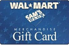 Walmart (or Sam's Club)  Gift Card VALUE $50  - Unscratched- NEW