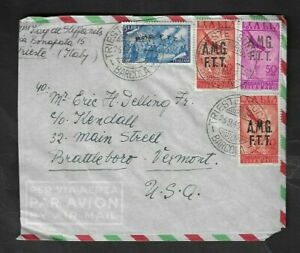 1948 Italy A.M.G.-F.T.T. Overprint Airmail Cover