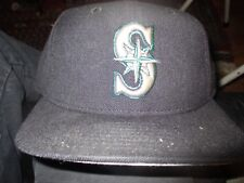 NWOT SEATTLE MARINERS Old Logo Solid Blue 7 1/4 New Era 5950 Made In USA