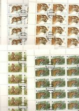 (#70) Russia - 1993 4v. CTO NH Siberian Tigers Animals WWF 36  SETS FULL SHEETS
