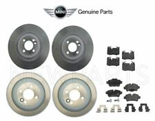 For Mini Cooper R55 R56 R57 R58 JCW Set of Front & Rear Brake Disc w/ Pads OES