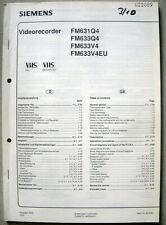 Siemens FM 631 633  Q4 V4 V4EU Service Manual