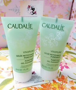 2X CAUDALIE Vinopure Purifying Gel Cleanser Travel Size 1oz/30ml each Free Ship