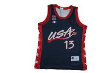 Maillot basket rétro USA N°13 O'Neal
