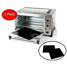 Two-Pack 100% Non-Stick 11&quot Toaster Oven Liner. Finally, Prevent Spillovers,