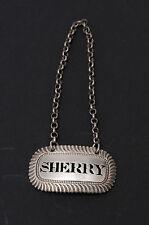 Georgiano Plata Maciza Decantador etiqueta 'Sherry' ley 1817-Antiguo