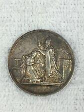Médaille de mariage argent massif nominative attribuée 1860 diamètre 2,7