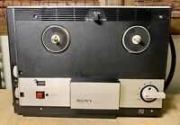 VINTAGE SONY Model TC-104 REEL TAPE RECORDER Sony-Matic - Tested - Needs Belts
