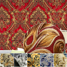 10M Retro Vintage Damask Waterproof Deep Embossed Textured PVC Wallpaper Roll