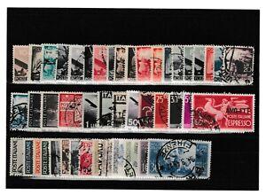 s39716 ITALIA Collezione Usati dal 1945 al 1960 +1 Certificato - 9 SCANS