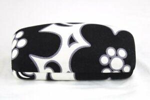 Vera Bradley Clamshell eyeglass Hard Case Night & Day Black White Floral Pattern