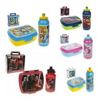 Lunch Sandwich Box With Sports Water Bottle Set School Travel Picnic Kids 3+year