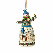Jim Shore Heartwood Creek*SNOWMAN with PINECONES ORNAMENT*New*CHRISTMAS*4049797