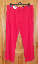 NEXT red LINEN blend casual summer holiday trousers pants 18R 46 BNWT PARALLEL