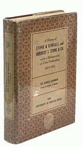 A History of Stone & Kimball and Herbert S. Stone FIRST TRADE EDITION