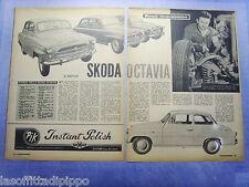 LAUTOM960-RITAGLIO/CLIPPING-ROAD IMPRESSION-1960- SKODA OCTAVIA