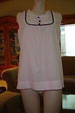 Vtg 60s Katz Babydoll Cotton Shorty Pjs Nightgown w/Original Bloomer panty Sz S
