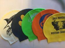 Latex Swimming Caps, Printed.  Set Of 3.  Grab Bag.