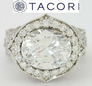1.65 ct TACORI RoyalT HT2611OV Oval PLAT Semi-Mount Engagement Ring Rtl $16,5k