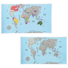 Personalised Scratch Off World Map Scratching Poster Portable Travel Log Gift