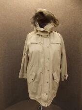Jessica London NEW Sporty Anorak Parka Jacket Faux Fur Trim Sz 20 Quilt Lining
