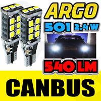 2X 501 LED SIDELIGHT BULBS ICE WHITE XENON T10 W5W 194 HID WEDGE LAMP LIGHT 12V
