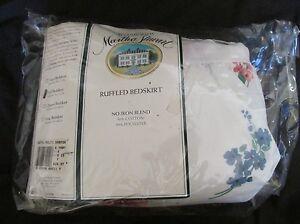 Brand New Vintage Martha Stewart Full Size Ruffled Bedskirt Cottage Flowers