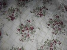 A Vintage Pair of Laura Ashley Floral Trellis Pattern Lined Curtains
