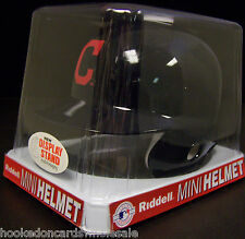 Cleveland Indians Replica Mini Batting Helmet with stand