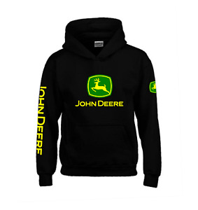 John Deere Hoodie JD KIDS AND ADULT SIZES Tractor Enthusiast Farming 5YRS-3XL