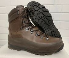 ITURRI BROWN LEATHER COLD WET WEATHER COMBAT BOOTS - 12 Medium , British Army