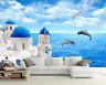 Papel Pintado Mural De Vellón Iglesia De Ocean Delfines 2 Paisaje Fondo Pantalla