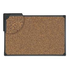 Universal Tech Cork Board, 48 x 36, Cork, Black Frame