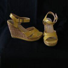 *La Redoute* Sandales Compensées Liège Cuir verni jaune T36