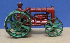 "Vintage Arcade Cast Iron Fordson Tractor 5 3/4"" Long 20s 30s Exc original"