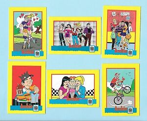 Archie Trading Card Treats 6-Card Set.  Plus promo card.