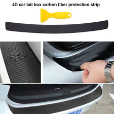 4D Car Door Pedal Rear Bumper Trunk Tail Lip Carbon Fiber Protect Sticker Covers