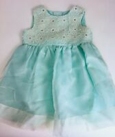 Monsoon Baby Girls Dress 6-12 Mos Silk Mint Green Party Wedding Dressy Easter