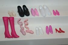 Nice Lot of 10 Mattel Barbie Doll Pairs of Shoes Boots Slides Sneakers Heels