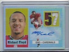 MICHAEL FLOYD 2012 TOPPS CHROME 1957 REFRACTOR 3 COLOR PATCH AUTO RC #D 5/10