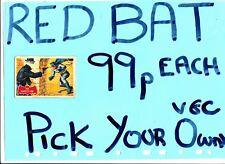 Batman A&BC Gum Red Cowl Bat Logo    A&BC Gum ................Pick your own