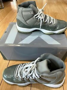 Nike Air Jordan 11 XI Retro Cool Grey 2010 White Gray 378037-001 Rare Size 11
