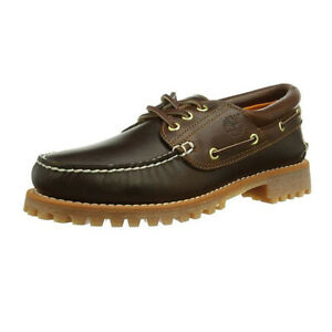 Timberland Men's Earthkeepers Classic 3 Eye Brown Leather Boat Shoes 6500A